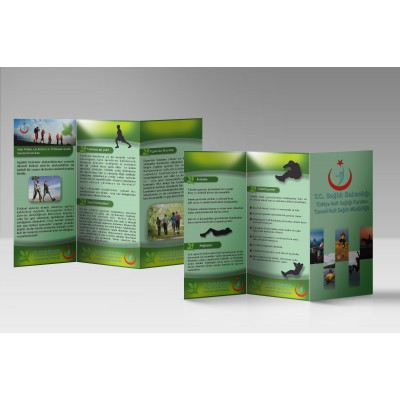 A4 Çift Yön Broşür 1000 Adet (Çift Kırımlı)