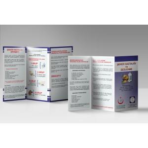 A4 Çift Yön Broşür 2000 Adet (Çift Kırımlı)