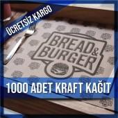Kraft Kağıt Amerikan Servis Tek renk 1000 Ad.