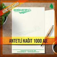 Antetli Kağıt Tek Renk Baskılı 1000 Adet