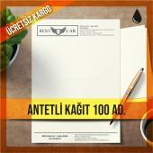 Antetli Kağıt Tek Renk Baskılı 100 adet
