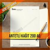 Antetli Kağıt Tek Renk Baskılı 200 adet