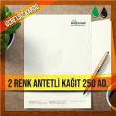 Antetli Kağıt İki Renk Baskılı 250 adet