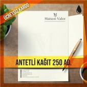 Antetli Kağıt 250 Adet Tek Renk Baskılı