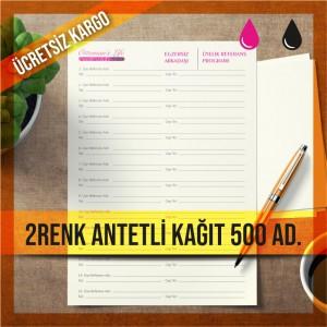 Antetli Kağıt İki Renk Baskılı 1000 Adet