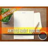 Antetli Kağıt 1000 Adet Tek Renk Baskılı