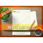 Antetli Kağıt 500 Adet Tek Renk Baskılı