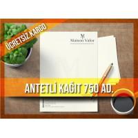 Antetli Kağıt 750 Adet Tek Renk Baskılı