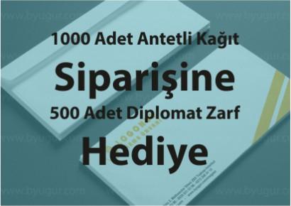 Antetli Kağıt Siparişine Diplomat Zarf Hediye
